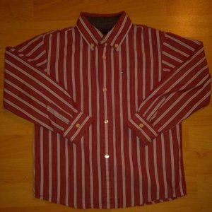 Vintage Tommy Hilfiger Red/White Stripes Button Up